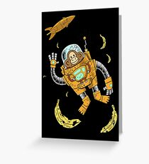 space chimp Greeting Card