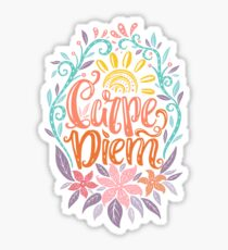 Carpe Diem - Seize the day Latin phrase Sticker