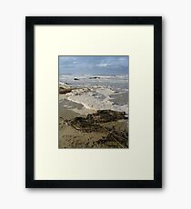 Storm Washed Beach Framed Print