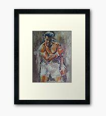 Mohammed Ali - Portrait 4 Framed Print