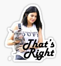 That's Right, Kylie's Here Bitches Sticker