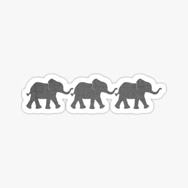 Three Elephants Sticker