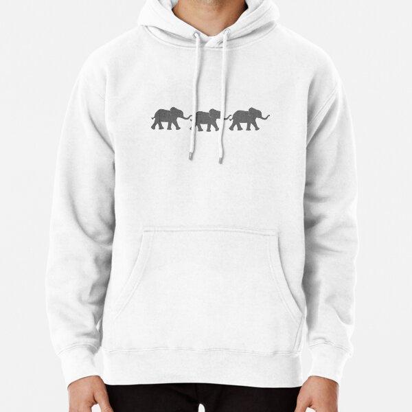 Three Elephants Pullover Hoodie