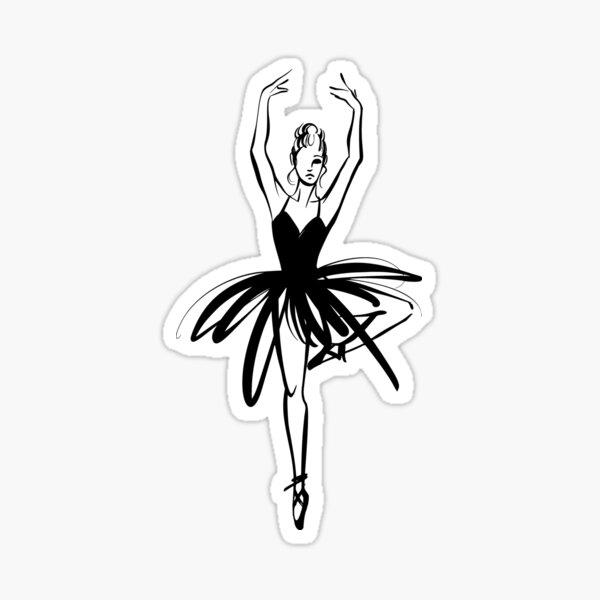 Ballet Dancer hand drawn graphic illustration Sticker