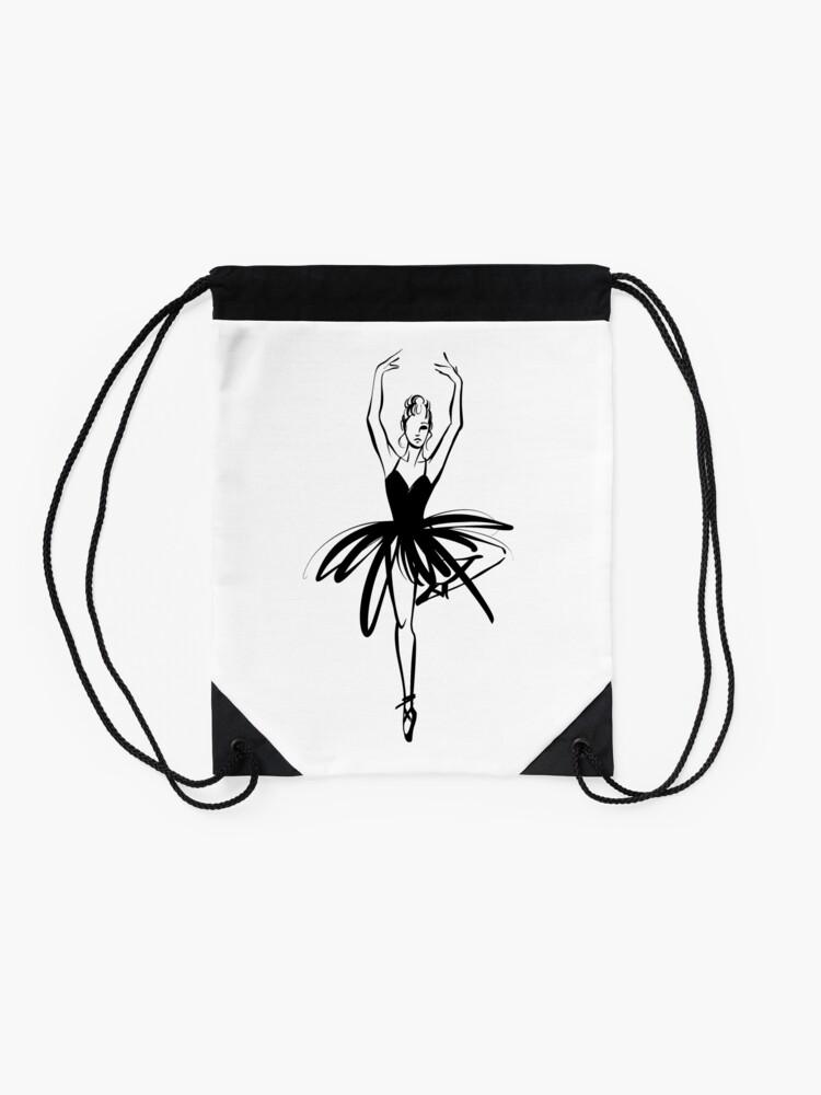 Vista alternativa de Mochila saco Ilustración gráfica dibujada a mano Ballet Dancer