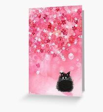 Falling Petals Greeting Card