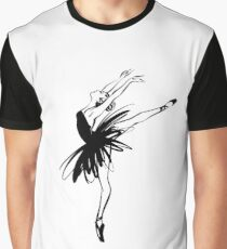 Ballerina in tutu in performance position. Graphic T-Shirt