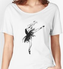 Ballerina in tutu in performance position. Women's Relaxed Fit T-Shirt