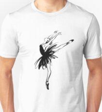 Ballerina in tutu in performance position. T-Shirt