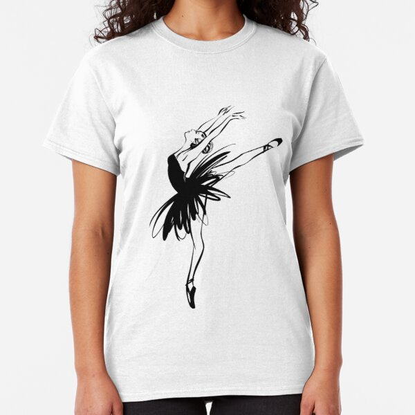 Ballerina in tutu in performance position. Classic T-Shirt