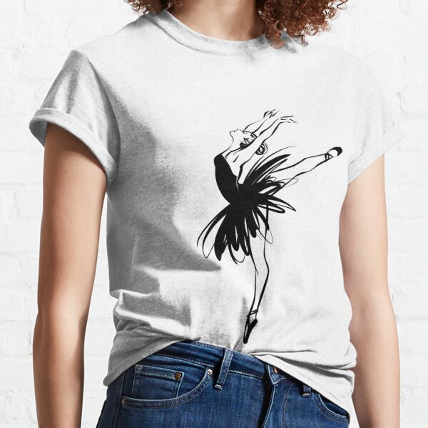 Ballerina in tutu in performance position. Classic T-Shirt