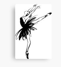 Ballerina in tutu in performance position. Canvas Print