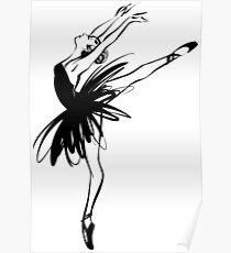 Ballerina in tutu in performance position. Poster