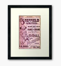 Sheffield United Football Club programme, 1899 Framed Print