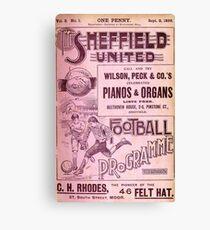 Sheffield United Football Club programme, 1899 Canvas Print