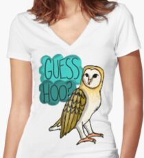 Guess Hoo? Women's Fitted V-Neck T-Shirt