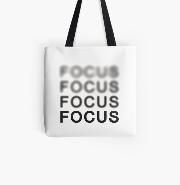 Focus All Over Print Tote Bag