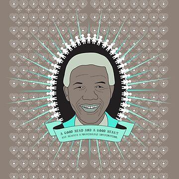 Tata Madiba - A Good Heart (in taupe) by CatherineKita