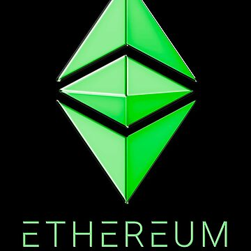 Ethereum Classic simple (green metal) by andrasbalogh