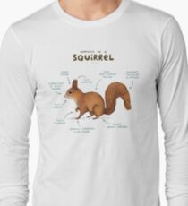 Anatomy of a Squirrel Long Sleeve T-Shirt