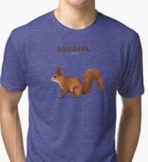 Anatomy of a Squirrel Tri-blend T-Shirt
