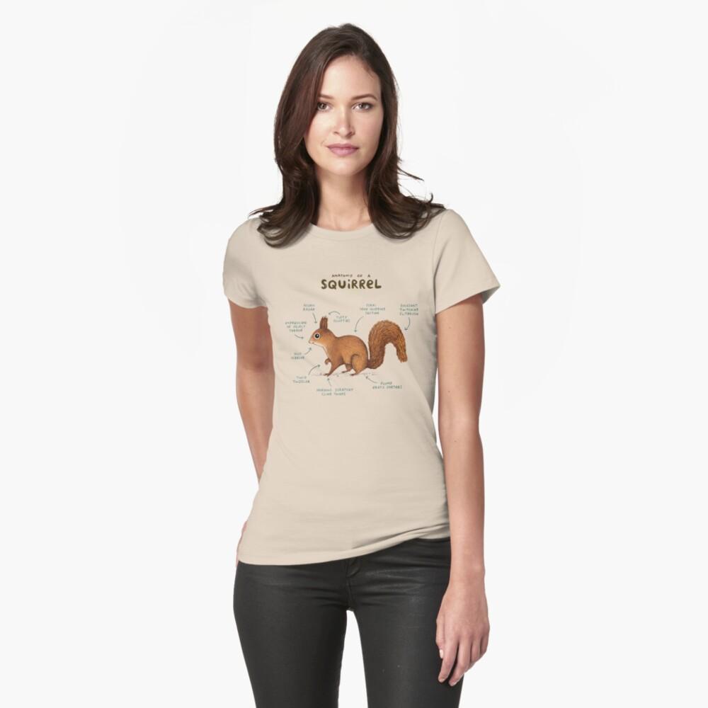 Anatomía de una ardilla Camiseta entallada
