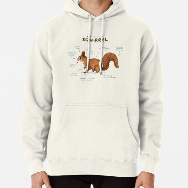 Anatomy of a Squirrel Pullover Hoodie