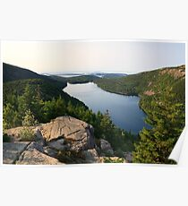 Jordan Pond from North Bubble, Acadia National Park, Maine Poster