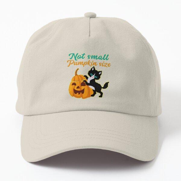 Not Small Pumpkin Size Cute Halloween Cat Dad Hat
