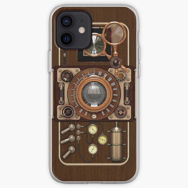 Stylish Steampunk Vintage Camera (TLR) No.1 Steampunk Phone Cases iPhone Soft Case