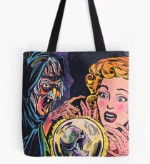The Witch and her crystal ball Tote Bag