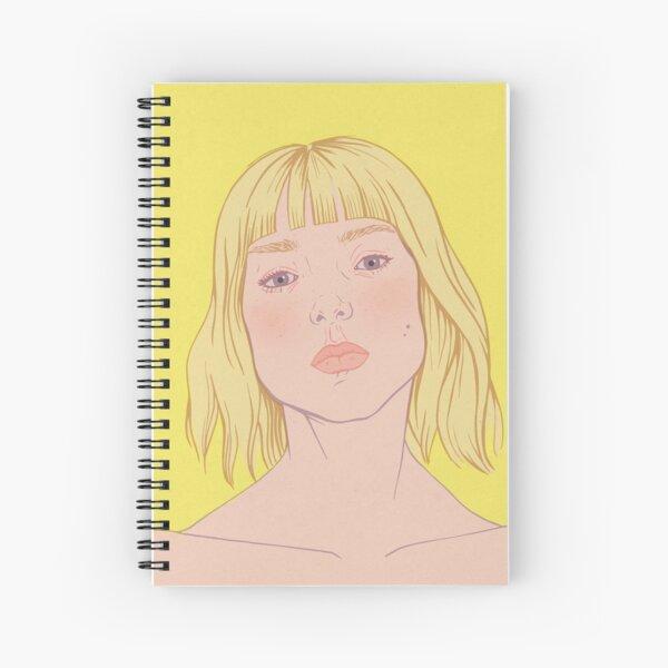 Lea- fashion illustration portrait Spiral Notebook