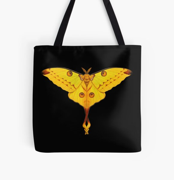 Comet Moth Painting All Over Print Tote Bag
