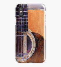 Martin Guitar 00028H - Watercolor - Guitar Print - Music Den iPhone Case/Skin