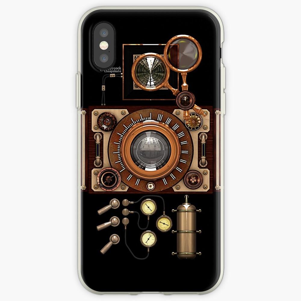 Estuches para el teléfono Steampunk Camera # 2A Vintage Steampunk Vinilos y fundas para iPhone