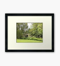 Do Not Always Walk Over A Bridge For There Is A World Around It Framed Print