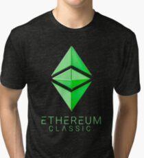 Ethereum Classic simple (green metal) Tri-blend T-Shirt
