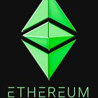 Ethereum Classic simple (green metal) by Andrea Beloque