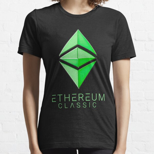 Ethereum Classic simple (green metal) Essential T-Shirt