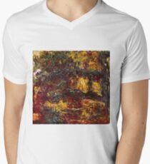 Claude Monet - The Japanese Footbridge, Giverny ( 1922)  Mens V-Neck T-Shirt