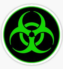 Clean Biohazard Symbol Green - Science Nerd Sticker