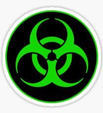 Clean Biohazard Symbol Green - Science Nerd Sticker