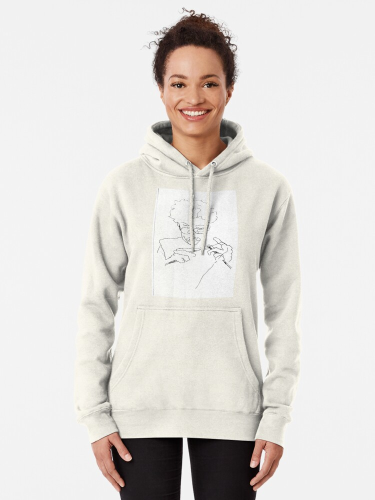 Alternate view of Knitting with concentration Pullover Hoodie