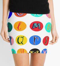 Alphabet  Mini Skirt