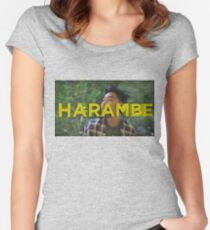 Dumbfoundead: Harambe Women's Fitted Scoop T-Shirt