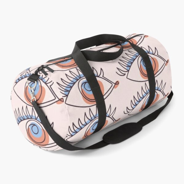 Eye In Abstract Continuous Line Art Duffle Bag