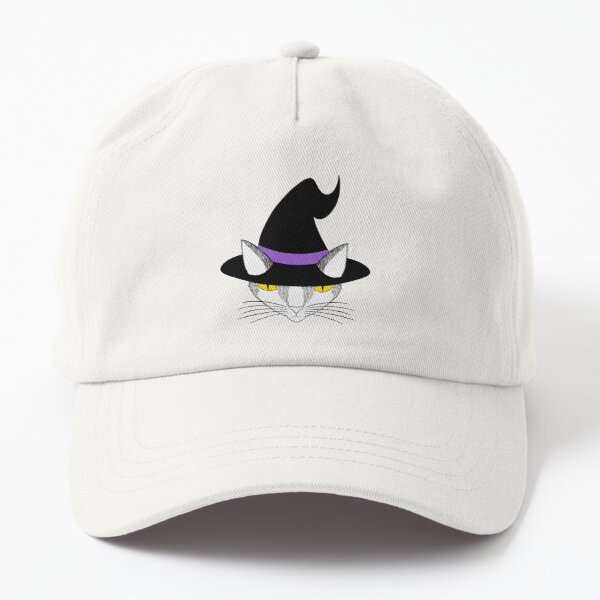 Graphic Witch Kitty in Nonbinary Colors Dad Hat