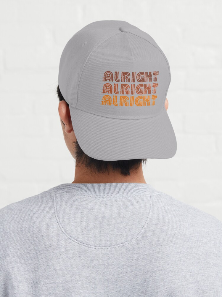 Alternate view of Alright Alright Alright Funny Vintage 70s Design Cap