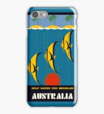Great Barrier Reef Australia travel advertising iPhone Case/Skin