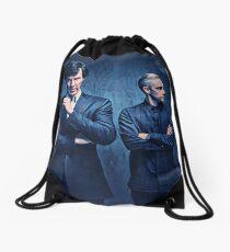 Sherlock and John Drawstring Bag
